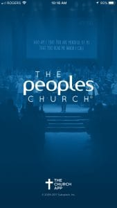 Screenshot of The Peoples Church app
